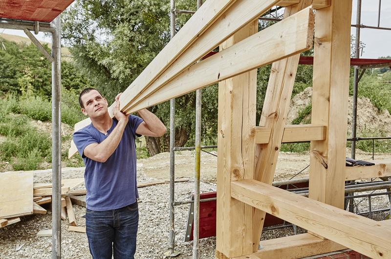 Montage Dachstuhl, Kaltdach und Lattung