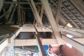 Einbau von Zwischendecken in bestehende Dachstühle